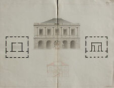 Dessin d'architecte, XIXe (1862-63). Plan. Drawing, 19th. Signé.