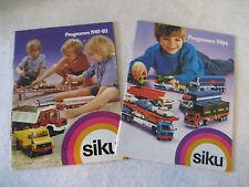 vintage SIKU toy car catalog lot '81 '84 retailer book GERMAN trucks BMW Ford