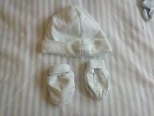 Baby Boys M & S Pale Blue Hat & Mittens Set Age up to 1 month