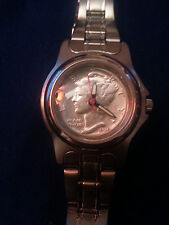 ATTRACTIVE  & ELEGANT GENUINE    SILVER  MERCURY DIME WOMENS' QUARTZ WATCH!