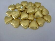 GOLD FOIL CHOCOLATE LOVE HEARTS WEDDING FAVOURS X30
