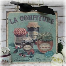 "NEW! ""LA CONFITUR"" Vintage Shabby Country Cottage style Wall Decor Sign"