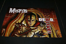 "The Misfits Dead Alive Poster OUT OF PRINT RARE! 18"" X 12"" INCHES NEW OLD STOCK"