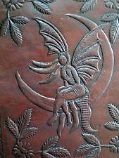 Luna Fairy pagane wicca A5 in pelle fatto a mano Scrittura contabile del libro delle ombre DIARIO