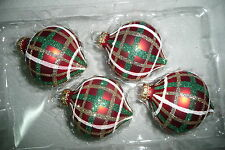 Spitz Christbaumkugel Weihnachtskugel Christbaumschmuck Glas Krebs rot weiß grün