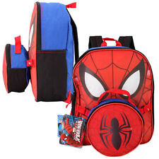 "Marvel Spiderman Boys Kids School 12"" Backpack w/ Lunch Bag Case"