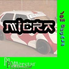 Micra Japan JDM Sticker Aufkleber oem Power fun like Shocker DUB