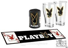 PLAYBOY BAR ESSENTIAL PACK WITH BAR MAT AND CAN COOLER
