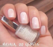 New .17oz MAVALA Nail Polish Color Pearl *GENEVE* Sheer Pearly White Lacquer #22