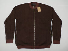 Paul Smith Jeans Men's Zip Thru Track Top Burgundy Size Large NWT