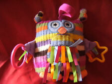 "Little Jellycat Knitted Hoot Owl Pram Soft Toy 6"" J2023F"