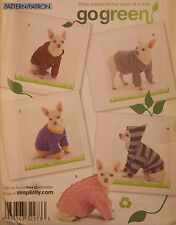 Dog Clothes With Child's Sweater Sewing Pattern Simplicity # 2755 Size XS-S-M