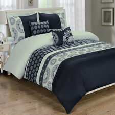 Luxuriously Embroidered Chelsea 5 Multi-Piece Combed  Cotton Duvet Cover Set