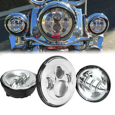 """7"""" LED Daymaker Headlight Auxiliary Light For Harley Davidson CVO Road King"""