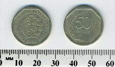 Peru 2005 - 50 Centimos Copper-Nickel-Zinc Coin - National arms within octagon