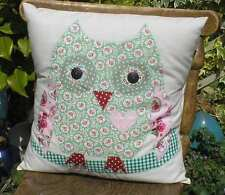 "Sew your own Applique Owl Cushion Kit ideal gift cotton fabric New 12"" sew easy"