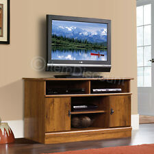 "44"" Wood Oak Finish LCD LED TV Stand Media Console Doors Entertainment Center"