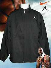 Nike Mens JORDAN Jackets Black ( two tone pin stripe) Bomber, Harrington Medium