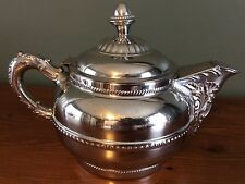 Vintage Rochester Stamping Works Coffee/Tea Pot Silver-plated Copper