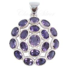 925 solid sterling silver AAA quality handmade Fine AMETHYST CLASSIC NEW Pendant