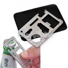 Swiss Multifunction Army Knife Card For Camping Outdoor Expedition Pocket New
