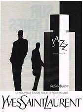 """Publicité Advertising 1988 Eau de Toilette pour homme """"Jazz""""  Yves Saint laurent"""