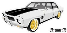 New! Collectable Holden HQ Monaro GTS 4Door - White with Gold Simmons