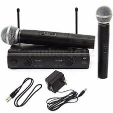 PRO VHF DUAL WIRELESS MICROPHONE SYSTEM CORDLESS UT4 TYPE MIC KARAOKE KTV DJ NEW