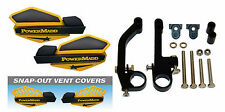 Powermadd Ski-Doo Yellow/Black Star Snowmobile Handguards/Mount Kit Polaris etc