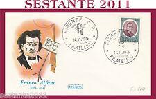 ITALIA FDC ROMA 1975 FRANCO ALFANO ANNULLO FIRENZE G680