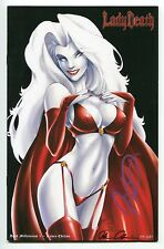 Lady Death Dark Millennium #1 Raven Variant Mike Debalfo Cover Signed by Pulido