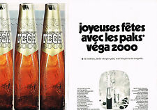 PUBLICITE ADVERTISING 064  1969  VEGA 2000   bière  (2 pages)