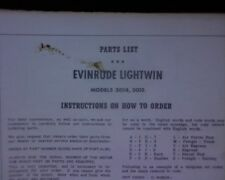 VINTAGE 1957 Evinrude Lightwin 3014, 3015 Outboard motor SPARE PARTS MANUAL book