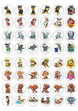48 Paw Patrol Wafer Rice Paper Mini Cupcake Topper Edible Fairy Cake Bun Toppers