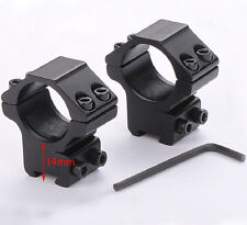 """2x Low Profile Scope Rings 25.4mm 1""""  for .22 Cal Dovetail 11mm Rail Mount 3/8"""""""