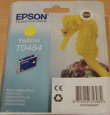 Genuine EPSON T0484 TO484 Amarillo Cartucho Vac 'Sellado Original SEAHORSE OEM Tinta