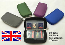 GREEN memory card holder pouch wallet SD SDHC CF Micro SD travel case protection