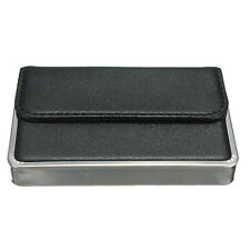 Luxury Mens Black Pocket Leather Business ID Credit Card Holder Case Wallet New