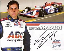2009 VITOR MEIRA signed INDIANAPOLIS 500 PHOTO CARD POSTCARD INDY CAR foyt race