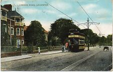 P.C Tram In London Road Leicester Leicestershire P U 1908