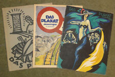 DAS PLAKAT 3 Original Issues Good Condition Complete 1920 Many Beautiful Plates