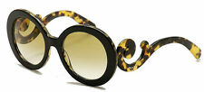 RARE New PRADA Minimal Baroque Black Medium Havana Sunglasses SPR 27N NAI-6S1