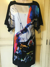 Bnwt £399 LAUREL ESCADA Superb 100% PURE SILK DRESS S / 10 UK