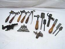 Lg Lot Antique Saw Set Sharpening Tools Swage Disston Pinch Vise Simonds