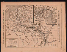 WWI Carte Map France Austria Serbia Bulgaria Balkans Greece  1917 ILLUSTRATION
