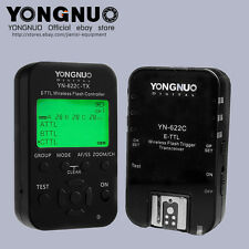 Yongnuo YN622C-TX +YN-622C KIT HSS 1/8000  flash trigger with 2 cables for Canon