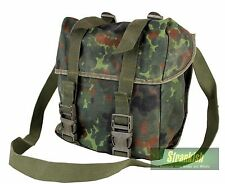 GERMAN ARMY GAS MASK COMBAT SHOULDER BAG in FLECKTARN CAMO