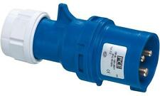 Pce - 013-6 - 16a 230v 3p Cee Industrial Plug, Ip44, Blue