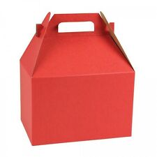 20 LARGE RED GABLE GIFT BOXES / HOLIDAY-CHRISTMAS -BIRTHDAY WEDDING
