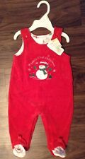 NWT Infant Holiday Baby First Christmas Footie Snowman Clothes Outfit 3 - 6 Mths